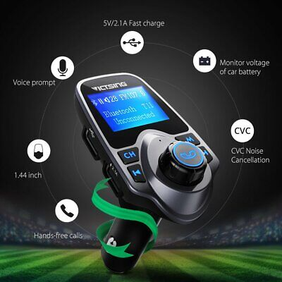 Victsing Wireless Bluetooth LCD MP3 Player FM Transmitter Handsfree Car Kit New