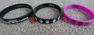 the nightmare before christmas bracelet bands x3