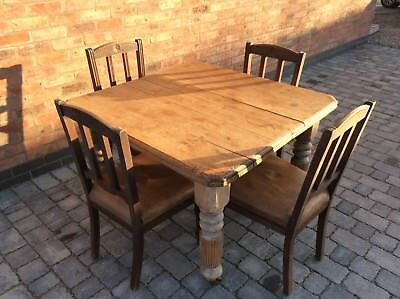 Victorian Antique Pine Table (Farmhouse Kitchen / Dining)