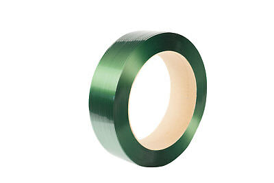 Strapping, smooth polyester, 15.5 x 0.88mm x 1300mtr, green