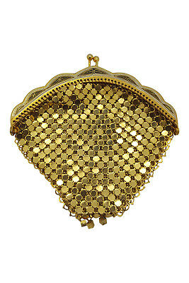 *unlabelled* Vintage Gold Chain Mail Mesh Purse (Xs)