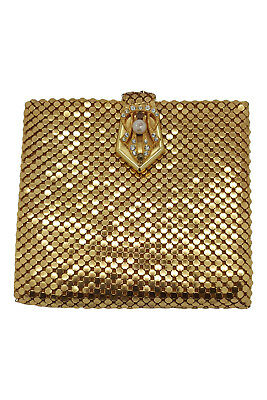 *unlabelled* Vintage Gold Chain Mail Mesh Mini Wallet Coin Purse (S)