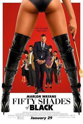 FIFTY SHADES OF BLACK ORIGINAL 27x40 MOVIE POSTER (2016) WAYANS & HAWK
