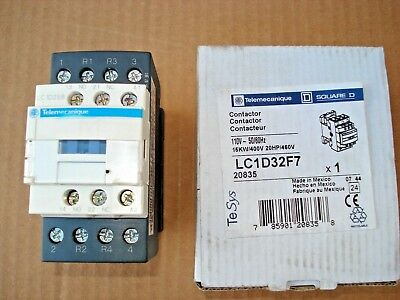 TeSys Telemecanique LC1 D 32 F7 110 VAC Coil Starter Contactor