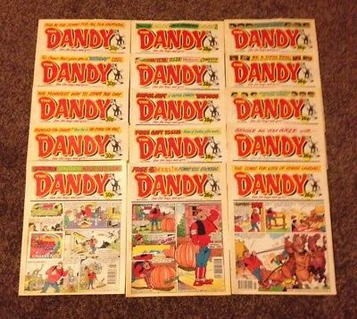 15 Various The Dandy Comic Issues From 1990's Era