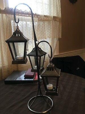 Antique copper lanterns with stand. Good condition