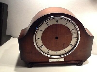 Vintage Art Deco Oak Clock Casing, with Roman Numeral Silvered Dial