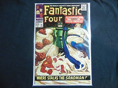 Fantastic Four #61 Fn+ 6.5 Mid Grade Book Where Stalks The Sandman Key Issue...