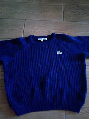 Vintage Lacoste/ 1980's Kids Navy Blue Sweater Size 8