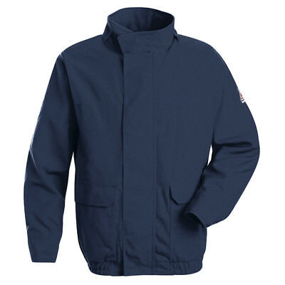 Bulwark Navy FR Lined Bomber Jacket Nomex Pick Your Size Flame Resistant