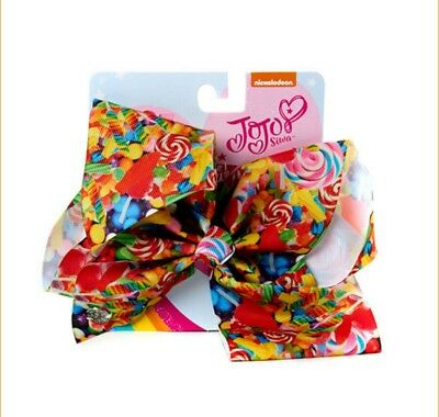 NWT AUTHENTIC JoJo Siwa LARGE BOW SUPER COLORFUL w/ CANDY & LOLLIPOPS BOW POWER
