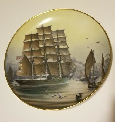 1981 Franklin Mint Patriarch Porcelain Plate Gold TrimThe Great Clipper w/ Box