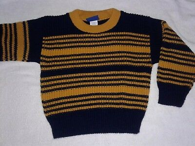 TODDLER SWEATER 4T small ..... boys girls pullover blue yellow