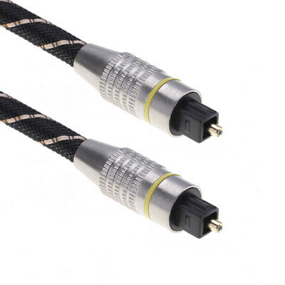 3/5/ 6ft Braided Nylon Optical Cable Digital Audio TOS-LINK SPDIF Surround Sound