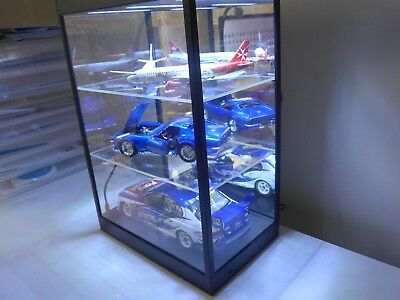 Large LED Display case w/2 Adjustable Shelves for your model cars and planes