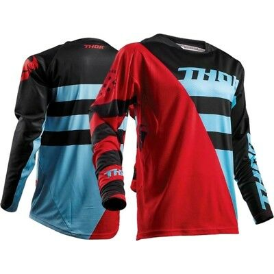 THOR FUSE AIR RIVE RED/BLUE MX Offroad Jersey *NEW* Motorbike MOTO