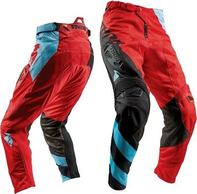 THOR FUSE AIR RIVE RED/BLACK MX Offroad Pants *NEW* Motorbike MOTO