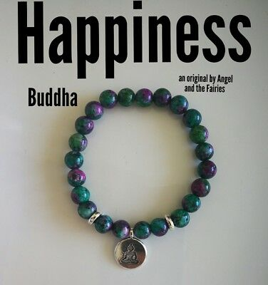 Code 245 Happiness Archangel Chamuel LIGHT THE FIRE WITHIN Ruby Zoisite Bracelet