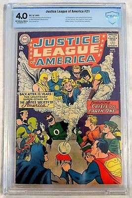 Justice League of America #21 CBCS 4.0 White pages DC 8/1963 1st JLA/JSA team-up