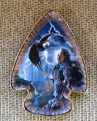 "Franklin Mint ""winged Spirit Of The Storm"" Heirloom Wall Hanger Plate #5788"