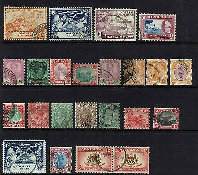 Malaya /states Singapore , Perak , Bma  . Collection