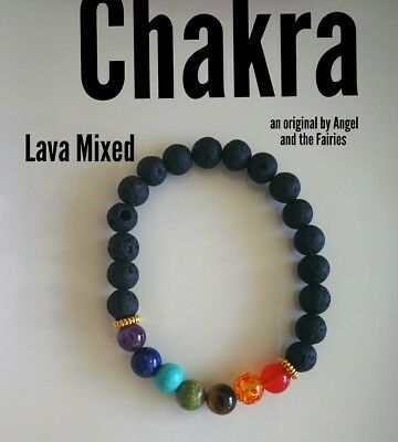 Code 248 Align your chakras infused lava bracelet unisex healing energy yoga