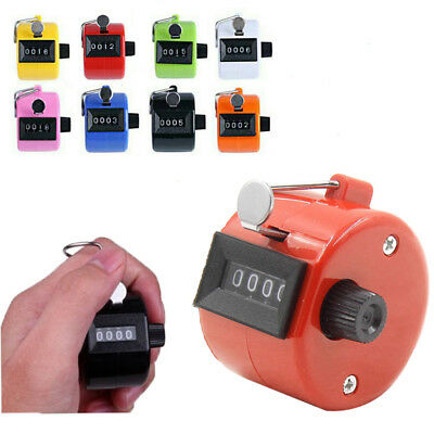 4 Digit Number Manual Handheld Tally Mechanical Clicker Golf Hand Counter -on