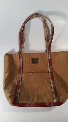 Longaberger Small Tote Shopper Lunch Bag Homestead Tan Corduroy