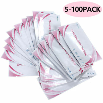 5-100Pcs Fertility for Ovulation (L H) Test Strips Early Urine Testing Paper
