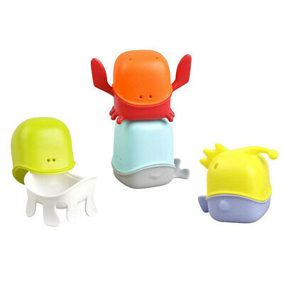 Boon 4pc Creatures Bath Toy Cup Set Tub/Shower Play/Fun for Kids/Toddler/Infant