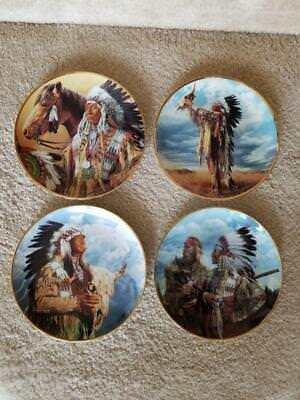 4 Franklin Mint American Indian Heritage Foundation Limited Edition Plates