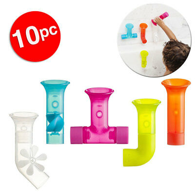 Boon 10pc Pipes Building Bath Toy Suction Set Tub/Shower Play/Fun Kids/Toddler