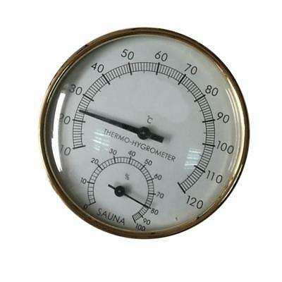 Stainless Steel Case Sauna Room Thermometer Hygrometer 10℃~120℃/ 0-100%