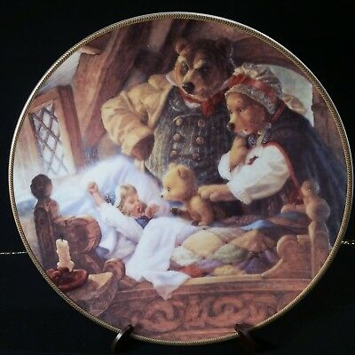 Knowles Collector Plate, Goldilocks and the Three Bears.Classic Fairy Tales