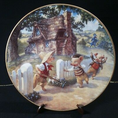 Knowles Collector Plate,Three Little Pigs.Classic Fairy Tales