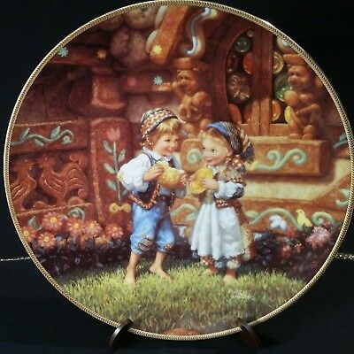 Knowles Collector Plate,Hansel and Gretel.Classic Fairy Tales