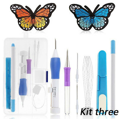 Magic Embroidery Pen Set Needle Craft Punch Tool Weaving Clothing Sewing