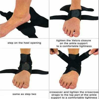 Brace Stabilizer Pain Relief Compression Ankle Foot Wrap Sports Support