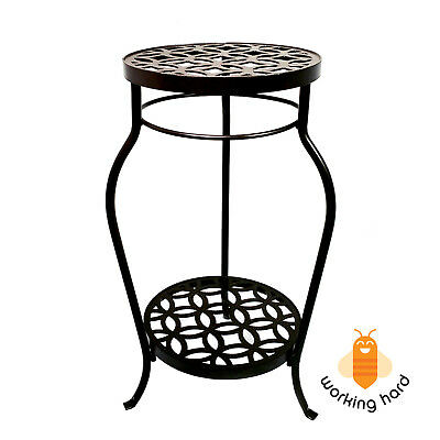 Astounding Garden Treasures Plant Stand 21 Bronze Indoor Outdoor Lamtechconsult Wood Chair Design Ideas Lamtechconsultcom