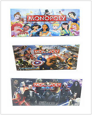 Hero Star Wars:Episode VII Monopoly Board Game Kid Family Fun Gift Free Delivery