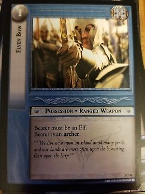 Lord of the Rings TCG Fellowship 1C41 Elven Bow CCG LOTR