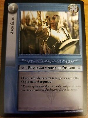 Lord of the Rings TCG Fellowship 1C41 Elven Bow PORTUGUESE CCG LOTR