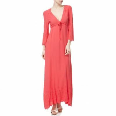 GHOST Sakura Carrie Women's Maxi Evening Dress Coral DN82AJ Size M = Size 10-12