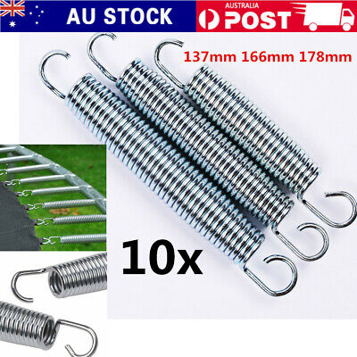 "10PCS 5.3""/7"" Trampoline Galvanized Steel Springs Replacement Set Heavy-Duty"