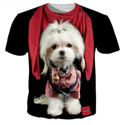 Womens/Mens Funny Dog Cute Animal 3D Print Casual T-Shirt Short Sleeve Tops Tee