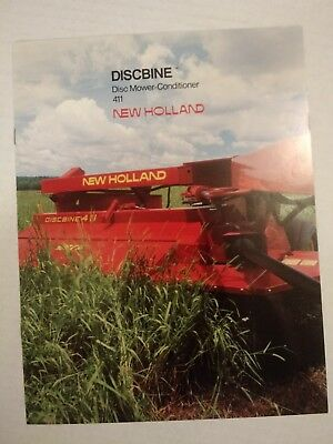 Original 1986 New Holland Discbine 411 Brochure