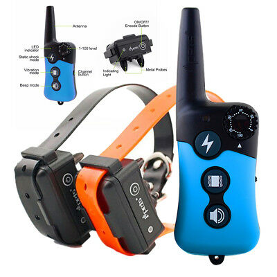 Rechargeable Electric Shock Dog Training Collar Anti Bark Stop Barking E-Collar