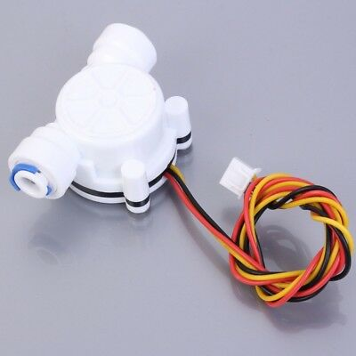 "G1/4"" Water Flow Hall Sensor Switch PE Pipe Flow Meter Flowmeter Counter 3.5-12V"
