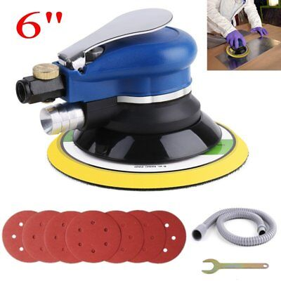 Air Random Orbital Palm Sander Car Auto Buffing Polishing Waxing Kit 6'' 150mm
