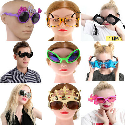 Funny Moustache Star Alien Bee Eyeglasses Photo Booth Holiday Party Sunglasses